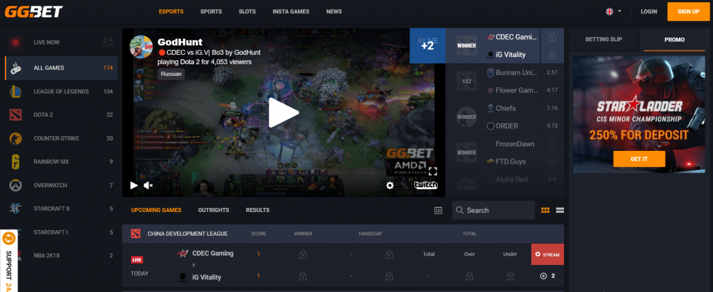 GG bet eSports Betting Review 2019 <BONUS 100% Up to $ 50>