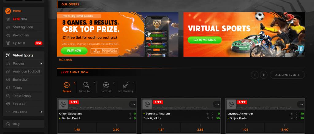 888sport Betting Options